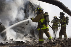 Firefighters In Action Royalty Free Stock Image