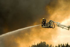 Firefighters In Action Royalty Free Stock Photos