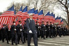 Firefighters Marching Royalty Free Stock Photography