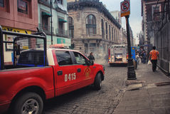 Firefighters in Mexico City Royalty Free Stock Images