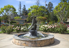 Firefighters Monument in Van De Leur Park in Yountville Royalty Free Stock Image