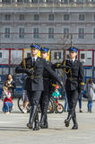 Firefighters parade Stock Image