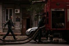 Firefighters scene II Stock Image