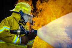 Firefighters training Royalty Free Stock Photos