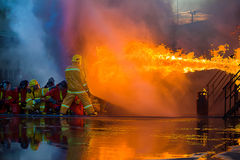 Firefighters training royalty free stock image