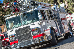 Firefighters Truck Stock Photography
