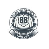 Firefighters vector emblem. EPS 10 and JPEG files Royalty Free Stock Photos