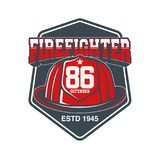 Firefighters vector emblem. EPS 10 and JPEG files Royalty Free Stock Photo