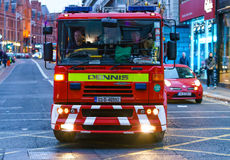Firefighters in the vehicle, Dublin Royalty Free Stock Images