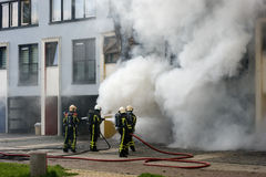 Firefighters at work Royalty Free Stock Image