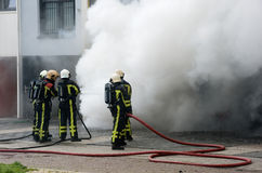 Firefighters at work royalty free stock photo