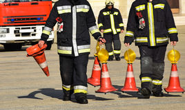Firefighters at work Royalty Free Stock Photography