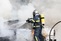 Firefighters working Royalty Free Stock Images