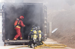 Firefighters working Royalty Free Stock Photography