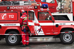 Firefighting. Safety Day in Germany. Firefighting royalty free stock image