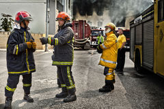 Firefighting royaltyfri bild