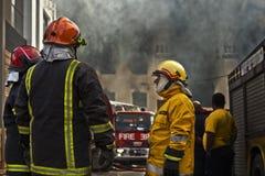 Firefighting royaltyfria foton
