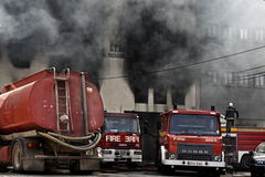 Firefighting royaltyfri foto