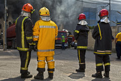 Firefighting Arkivfoto