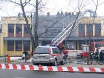 firefighting arkivbilder