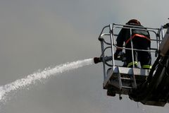 Firefighting stock image