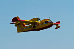 Firefighting aircraft on mission Royalty Free Stock Photo