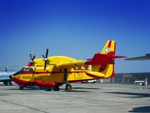 Firefighting airplane Stock Image
