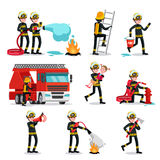 Firefighting Colorful Icons Set Royalty Free Stock Photo