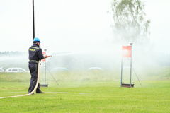Firefighting competition Royalty Free Stock Photo