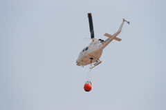 Firefighting Helicopter. Over Valencia Province in Spain Royalty Free Stock Image