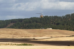 Firefighting helicopter Royalty Free Stock Image