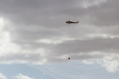 Firefighting helicopter Royalty Free Stock Images