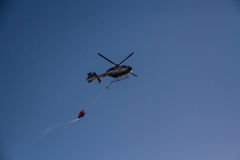 Firefighting helicopter Stock Image