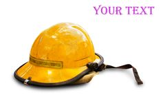 Firefighting helmet Stock Photo