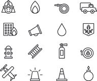 Firefighting icons Stock Photo