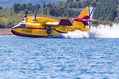 Firefighting Plane in Portugal. Fire in Portugal. Stock Images