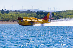 Firefighting Plane in Portugal. Fire in Portugal. Royalty Free Stock Photography