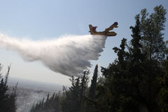 Firefighting plane Stock Photography