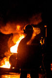 Firefighting Trio Stock Image