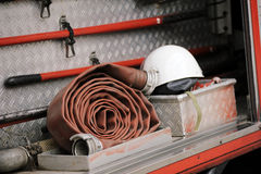Firefighting truck equipment Stock Photos