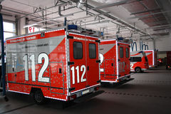 Firefighting Trucks Stock Photo