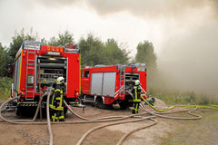 Firefighting Trucks Stock Photos