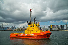 Firefighting tug boat Stock Photography