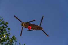 Firefighting twin rotor helicopter Royalty Free Stock Photo