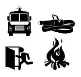 Firefigther design over white background vector illustration Stock Photos