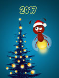 Fireflies celebrate the New Year Royalty Free Stock Images