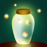 Fireflies Stock Image