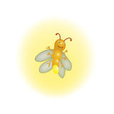 Firefly. With yellow shiny effect Stock Photo