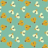 Firefly and bee geometric seamless pattern. Geometric modern natural background Royalty Free Stock Photos