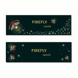 Firefly bug banner set Stock Photo